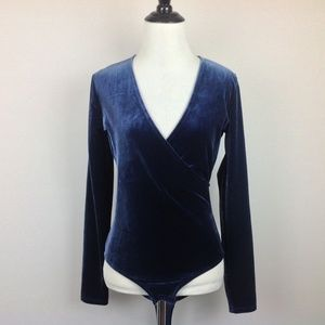 Madewell Body Suit Top Womens Small Stretch Velvet